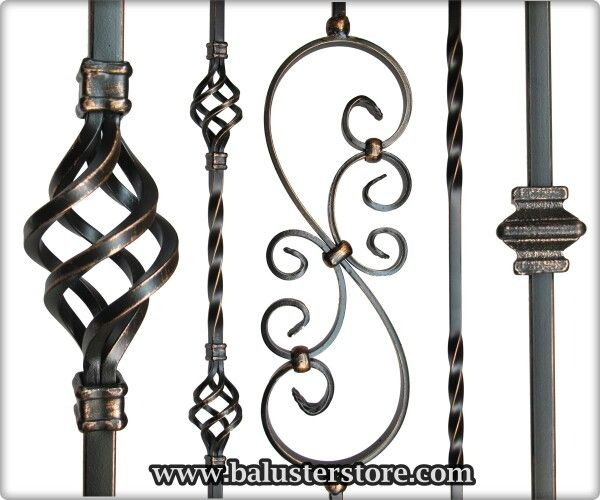 Oil rubbed copper iron balusters...  www.balusterstore.com