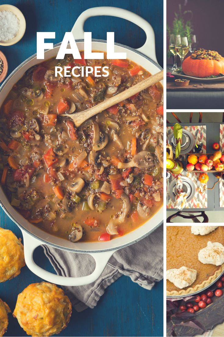 Featured fall recipes and local flavors