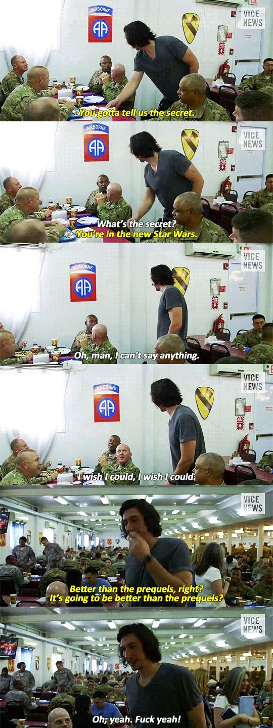 I love this man because, despite being an actor in Star Wars, he doesn't care about causing controversy in the studio by agreeing that the prequels suck.