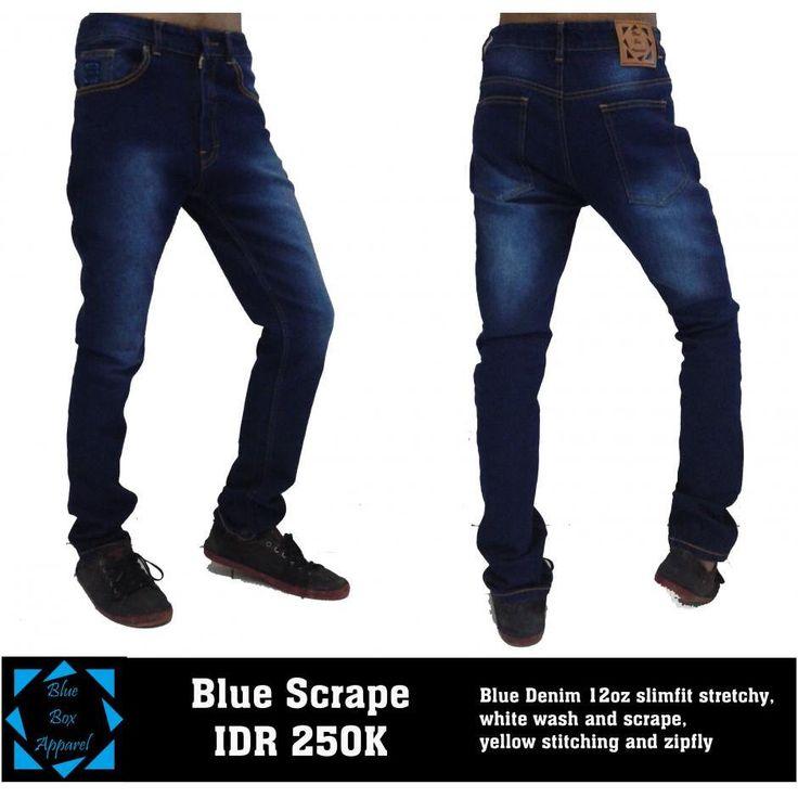 Ready Stock Blue Scrape ( Diskon 25% ) Material : Blue Denim 12oz slimfit stretchy, white wash and scrape, yellow stitching and zipfly YKK  Untuk Ukuran 29, 30, 31, 32, 33, 34     Kirimkan Form Pemesanan : Nama :...... Alamat Lengkap  :...... No HP :..... Kode Produk dan Ukuran :..... Bank Untuk Pembayaran : BCA/Mandiri Syariah   Contoh Ganjar 088277008944 Jl. Merdeka No. 1 bandung Denim - Blue Scrape - 30 BCA Kirim Ke Sms : 085722810760 atau BBM 32864560