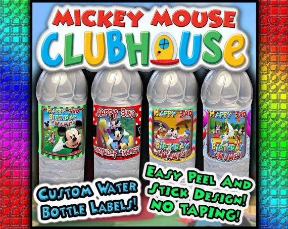 Hey, I found this really awesome Etsy listing at https://www.etsy.com/listing/177470544/mickey-mouse-clubhouse-water-bottle