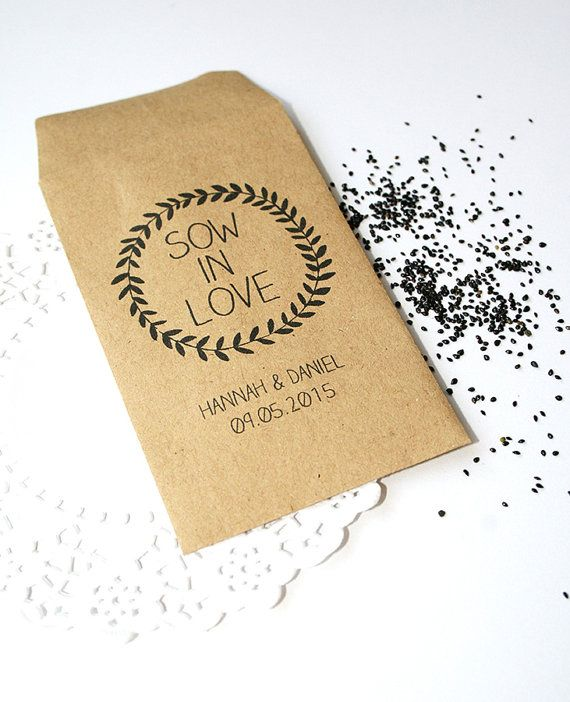 Looking for the perfect wedding favour that your guests will love? Want your guests to remember the special day for a long time to come? These seeds do exactly that! Sow in Love! Manilla envelopes personalised with your names and wedding date, each packet comes complete with seeds and a loving message card inside. (Packets measure 101 mm x 62 mm) Prices: 30 - 40: £1.45 41 - 60: £1.35 61 - 80: £1.25 81 - 100: £1.15 101+ £1.00 For quantities less than 30 please message me for a quote. ...