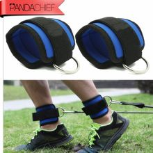 Strap Belt Gym equipment Attachment Thigh Leg Pulley Strap powerlifting body building exercise training band one pair //Price: $US $5.00 & FREE Shipping //