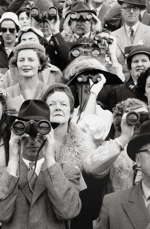 by David Moore - Dublin Horse Show spectators, 1956.