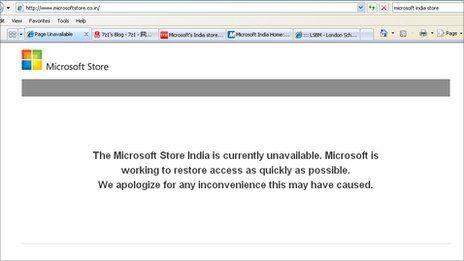 Hackers target Microsoft India's online store website