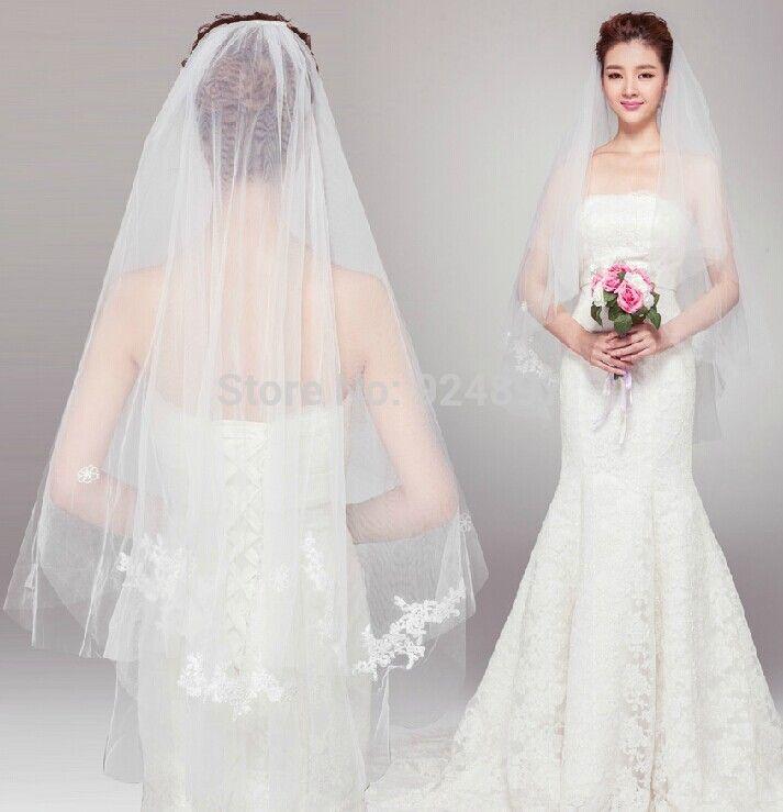 Best selling 2016 short Wedding Veils Lace wedding Veils Beauty One Layer Wedding Accessories veli da sposa
