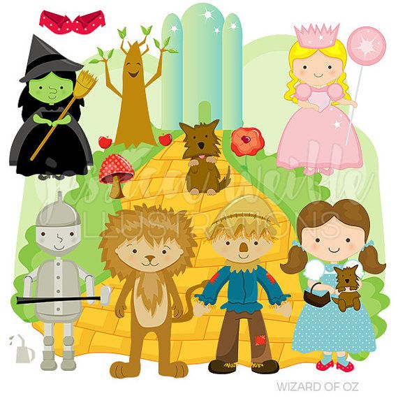 Wizard of Oz Cute Digital Clipart for by JWIllustrations on Etsy