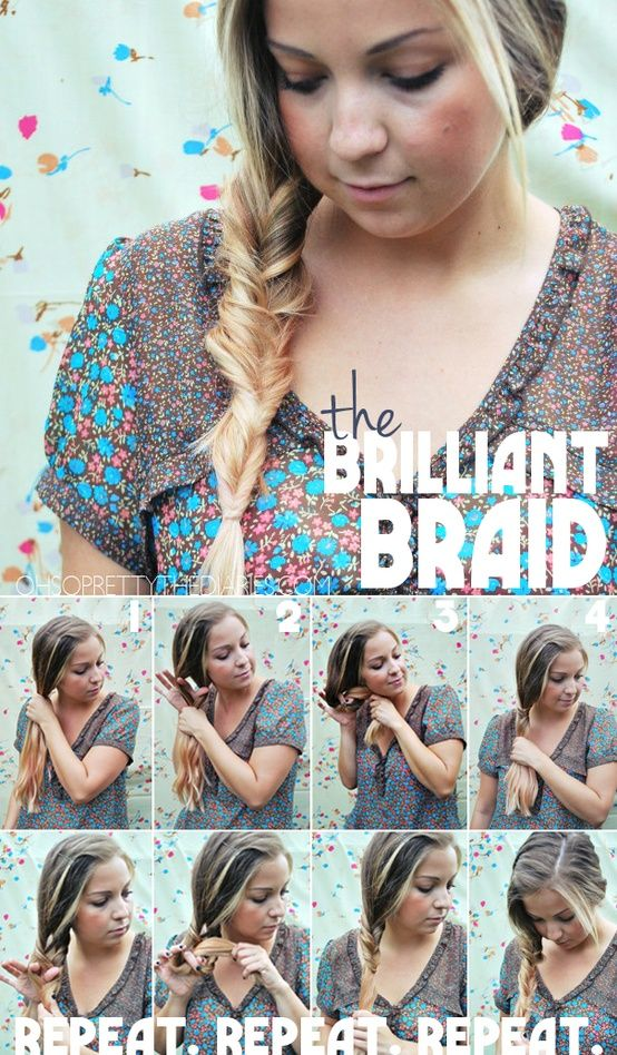 looks like a really intricate fishtail braid but, it isn't even a braid