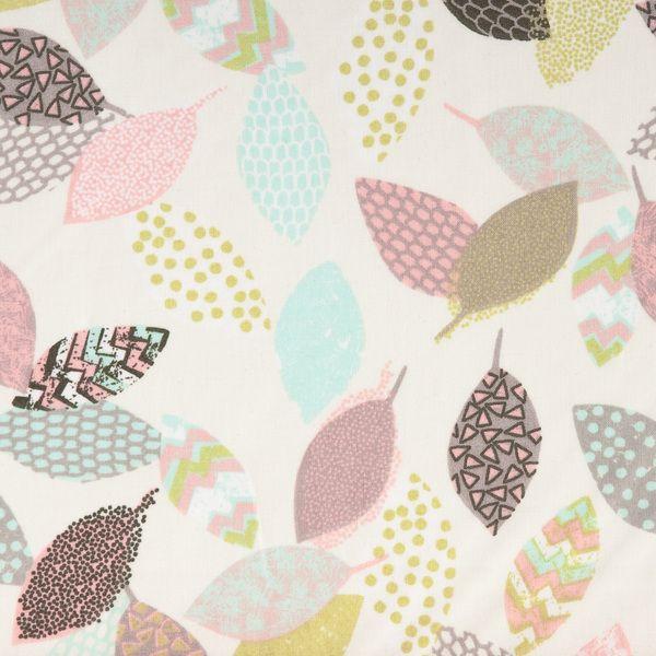 Bio-Stoffe - Bio-Stoff - Blättermix in Pastelltönen (9-040) - ein Designerstück von DasBlaueTuch bei DaWanda