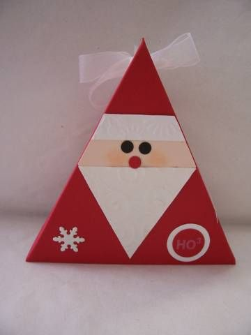 Triangle Santa...too stinkin' cute!