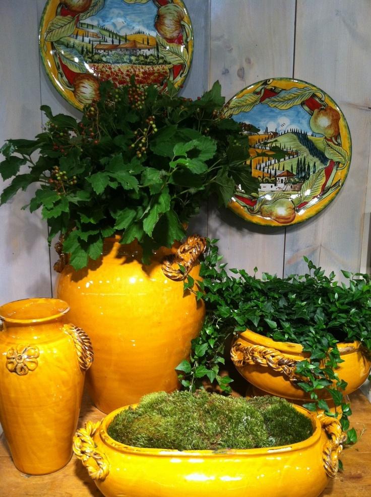 Beautiful Vietri Italian Planters  ShopMFT.com