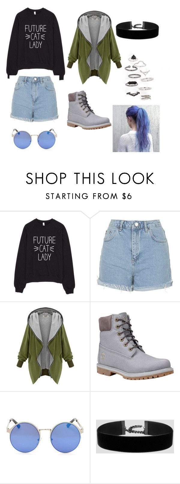Sporty and Hipster by hellowaffles on Polyvore featuring Topshop, Timberland, Winter, Hipster and futurecatlady