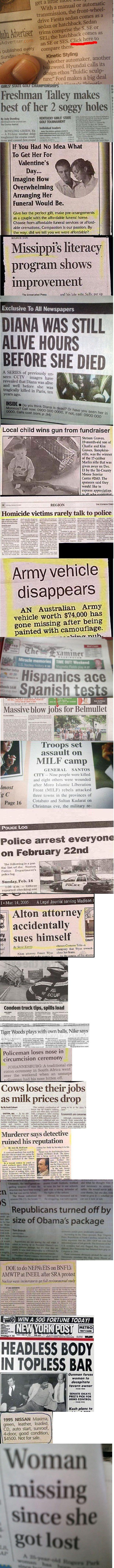 25 Funny Newspaper Headlines