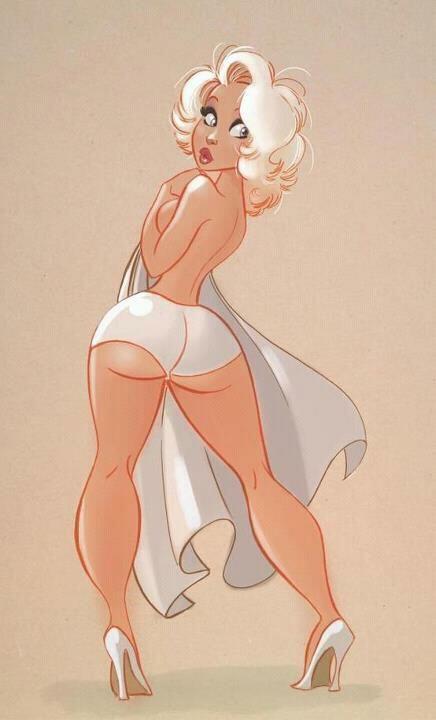 Curvy- girl pin up #illustration