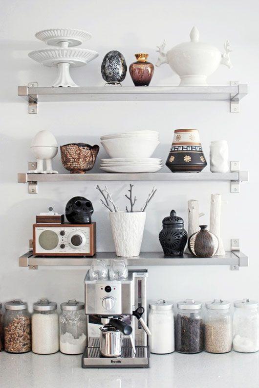 ikea ekby shelves stainless steel kitchen