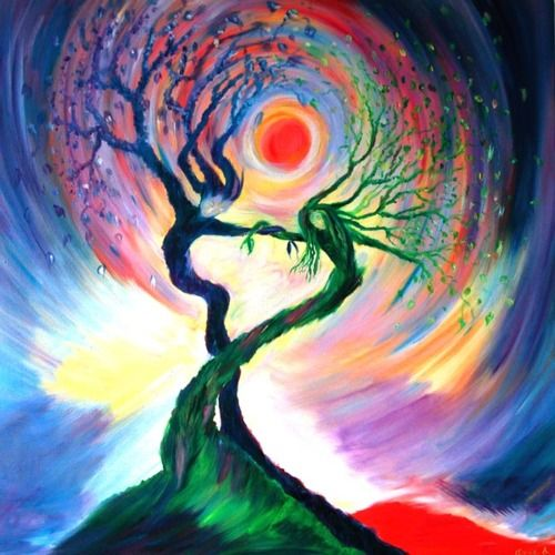 tree of life....I would hang in a living or dining room to add color as a painting.