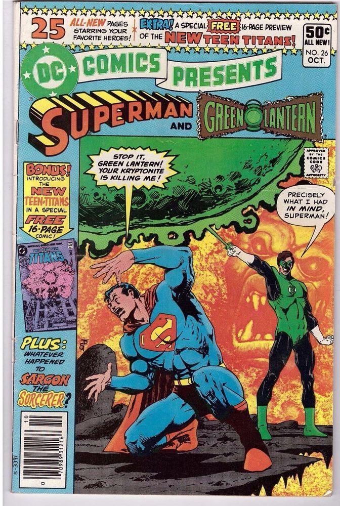 dc comics presents 26 oct 1980 superman green lantern