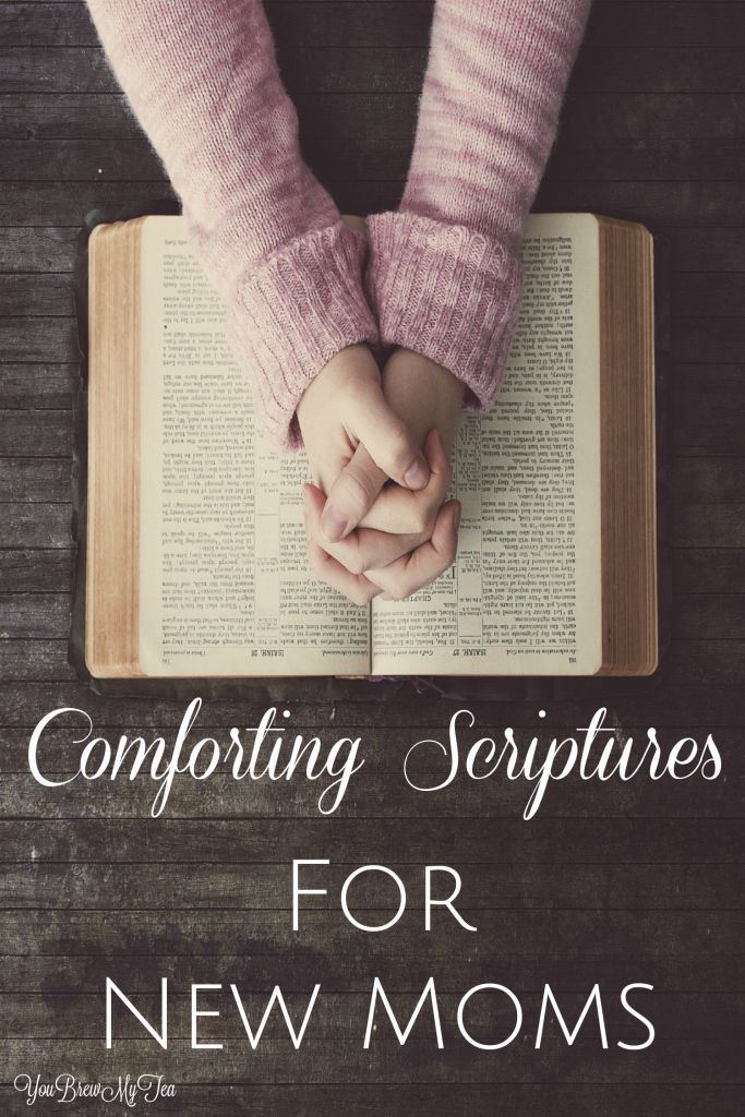 Don't miss our Comforting Scriptures For New Moms! | Scripture Lists | Post Partum Depression | New Mom Help | Moms of Babies | Bible Veress For Moms