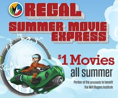 Regal Entertainment Group announces $1 movies for 2015 Summer Movie Express. Image Source: Regal Entertainment Group.