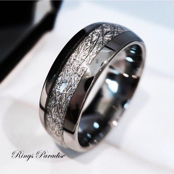 Tungsten Wedding Band His And Her Promise Ring Imitated Etsy In 2021 Mens Wedding Rings Mens Wedding Bands Tungsten Tungsten Wedding Bands