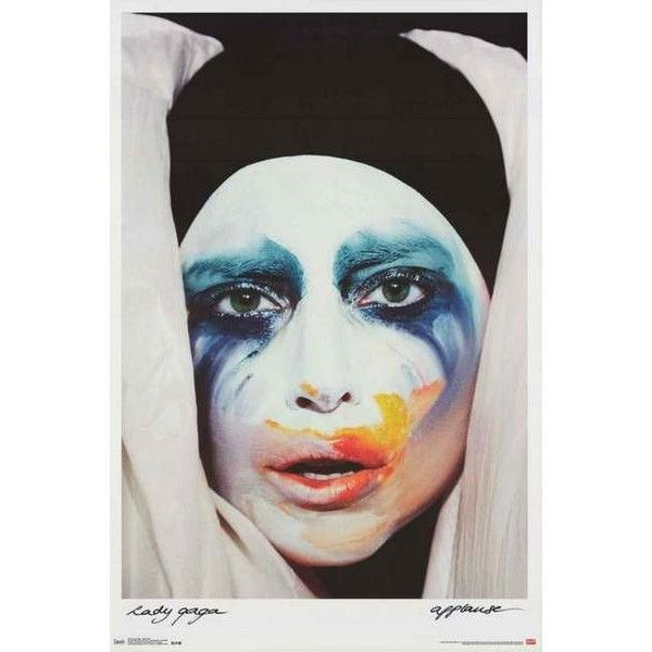Lady Gaga Applause Album Cover Poster 22x34 (€7,12) ❤ liked on Polyvore featuring home, home decor, frames and album cover frames
