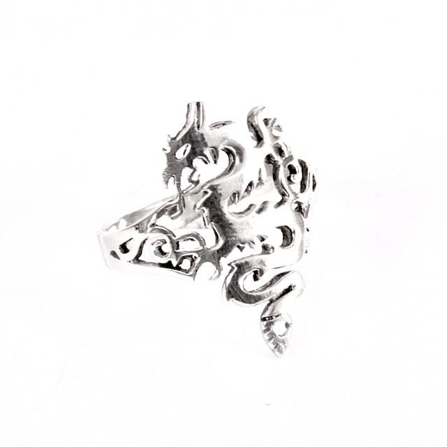 Arya - Anello Argento Drago  Arya - Silver Dragon Ring