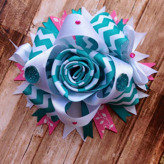 Over the Top Bow, Boutique Hair Bow, Girls Hair Bows, Girls, Baby, Newborn, Headband on Etsy, $12.00