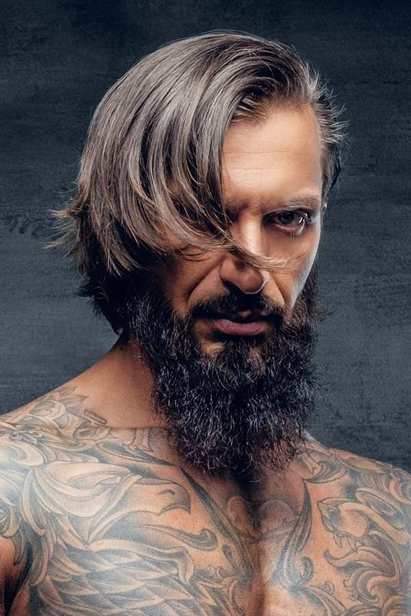 Inspirational Ideas On Hair And Full Beard Styles Combinations In