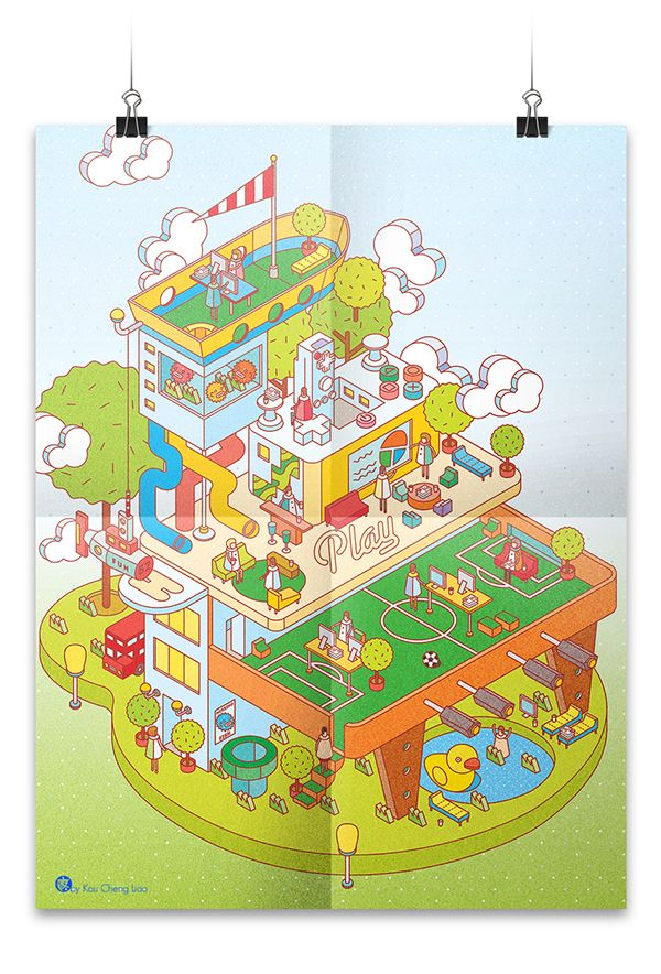 Playful Business | Illustration for Protein® Journal by KuoCheng Liao, via Behance