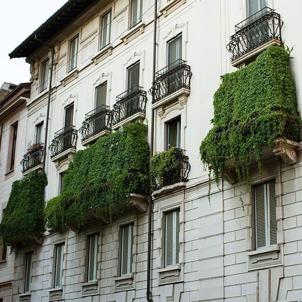 Milan's Green Balconies