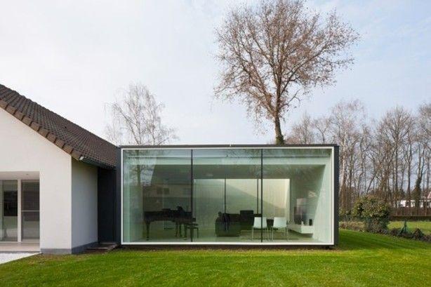 Aanbouw bij Framework House van Cocoon Architecten
