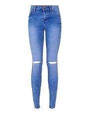 Jean ado bleu avec genoux déchirés | New Look