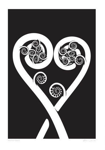Check out the new print Aroha Ferns by NZ artist Glenn Jones at Prints.co.nz