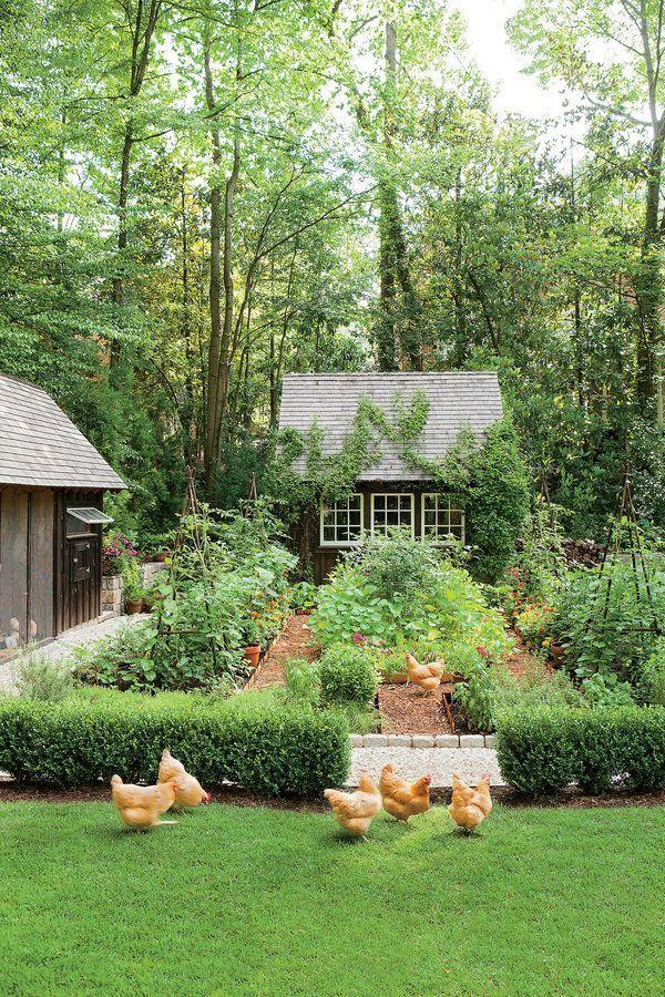 Traumgarten! Es hat sogar einen Hühnerstall Southern Living
