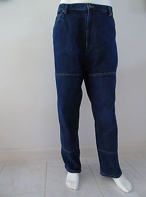 Winter Guide Gear Flannel Lined Mens Jeans Size 42 x 29 Work