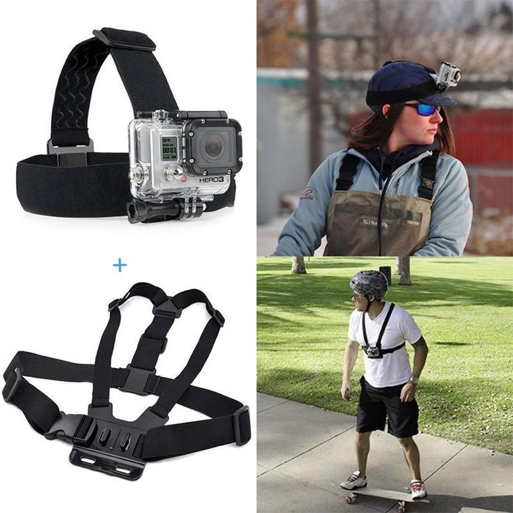 For Action camera Gopro Accessories Head Strap Chest Harness Mount For Gopro Hero5 3 3+ 4 SJ4000 xiaomi yi 4K EKEN H9 Action Cam //Price: $17.80      #FirstDayOfSummer