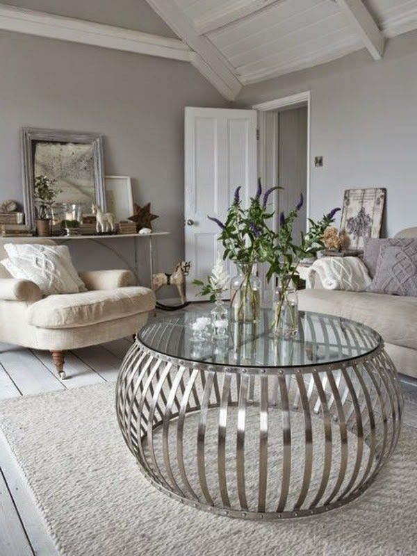 Silver Table A Real Eye Catcher Coffee Table Circle Coffee