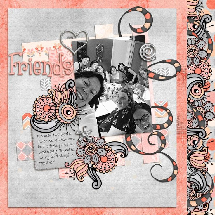 Layout by Jane (kit not yet released). Scraptacular Starters. Set 3 template 4