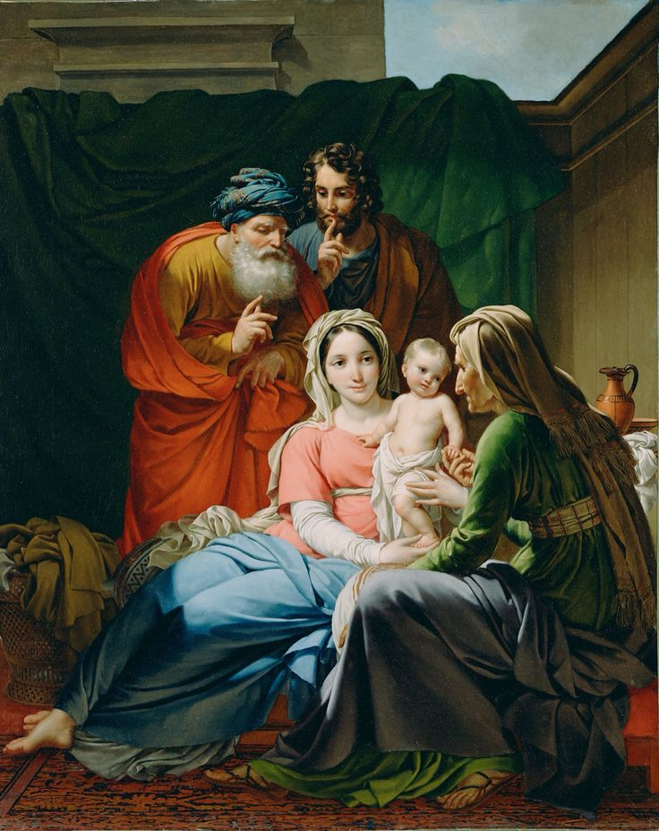 Holy family and grandparents