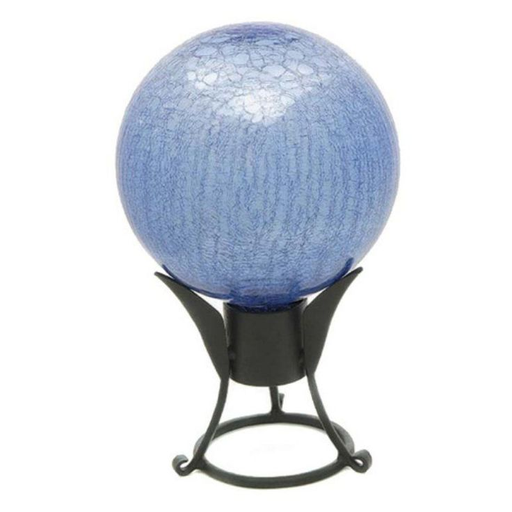 Achla Designs Crackled Glass Gazing Globe Blue Lapis - G10-BLL-C
