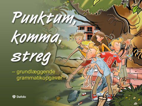 Punktum, komma, streg - grundlæggende grammatikopgaver - IOS-app til dansk grammatik - (pris: 13,00 kr., men fås også i en mindre og gratis version)