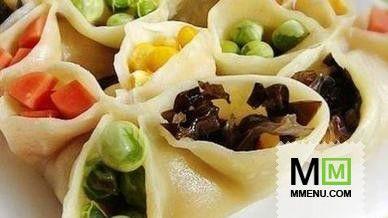 пельмени с овощами на пару(китайская кухня)