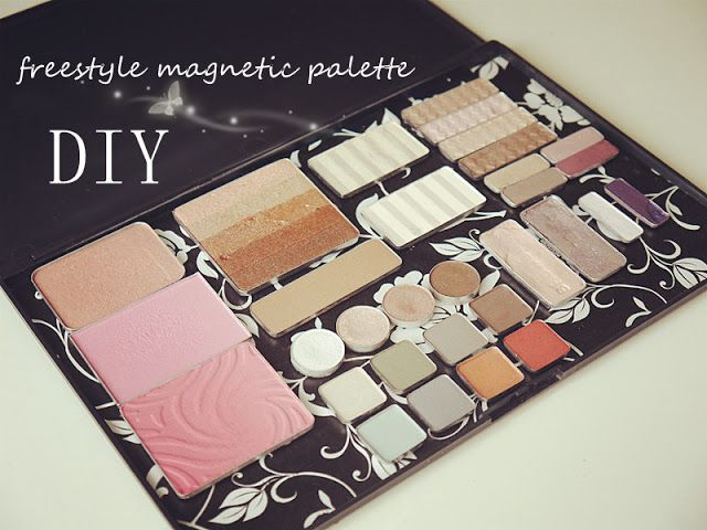 DIY: Freestyle Magnetic Makeup Palette ~ Way cheaper than the Aveda One I bought years ago and you can customize the look yourself!!!!