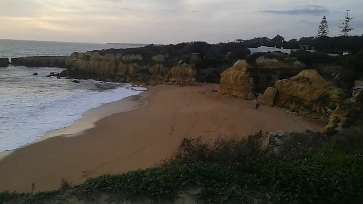 Castelo Beach Albufeira Algarve The sandy area of the Castelo Beach, inserted in between imposing rocky walls, has several charming little and hidden nooks a...
