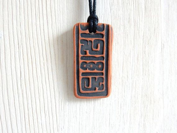 Mens Aromatherapy NECKLACE Terracotta by KilnFiredDiffusers