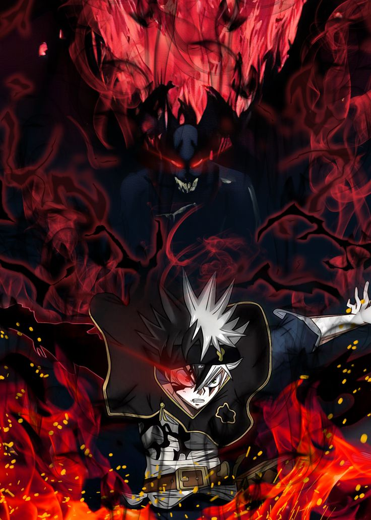 39 Black Clover (Asta) Metal Poster in 2020 Black