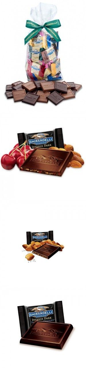 Ghirardelli Chocolate Squares Holiday Gift Bag - 80 Count (Decadent Dark)