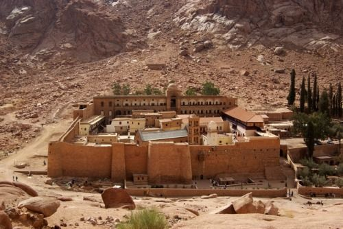 6th Cetury Saint Catherine's Monastery at the foot of Mount Sinai