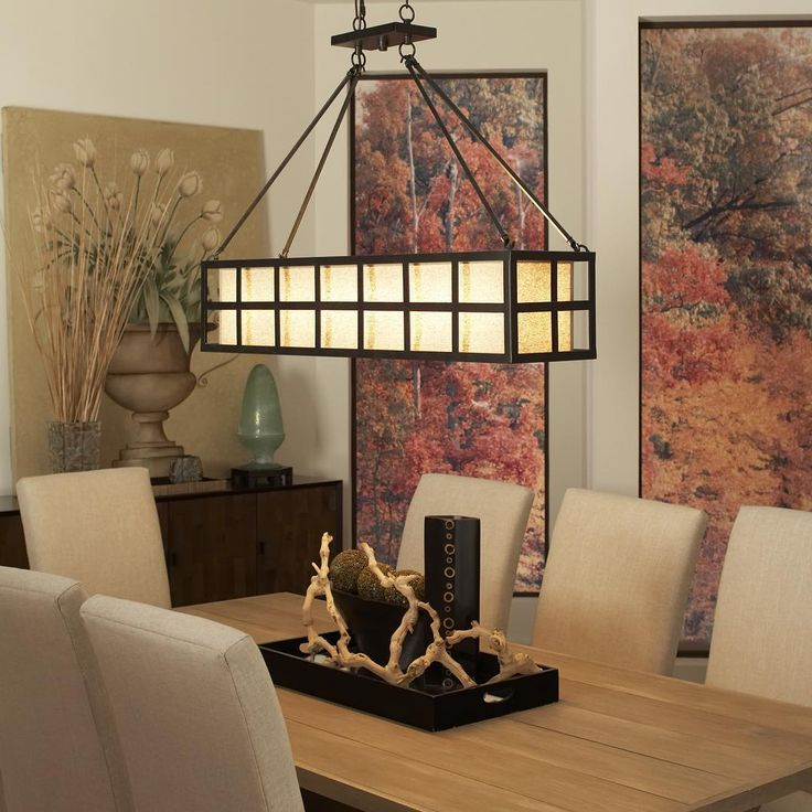 Loving This Asian Flair Industrial Style Features An Open Strap Metal Cage Suspended By Dining Room LightingKitchen