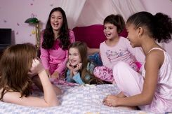 If you are planning a slumber party, you might want to consider having a theme for the event. Having a theme makes the sleepover feel more like a party, and you can send out invitations, plan activities and snacks, and set up the sleeping area so that each aspect of the party ties in with the theme.